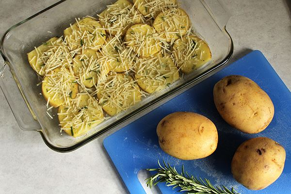 Rosemary and Parmesan Scalloped Potatoes
